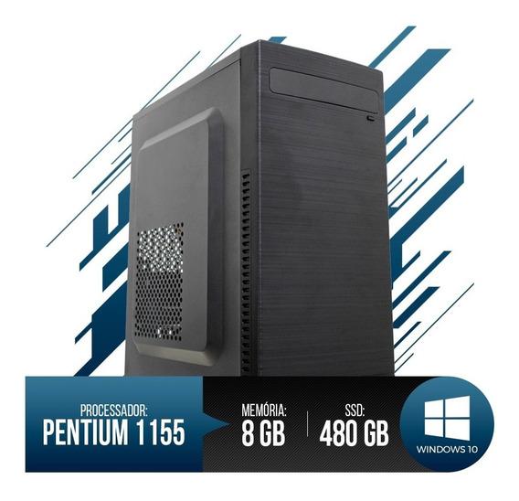 Pc Intel Pentium G2020, 8gb Ram Ddr3,ssd 480gb Frete Gratis