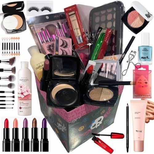 Combo Caixa De Maquiagem Completa Profissional Makeup Luxo