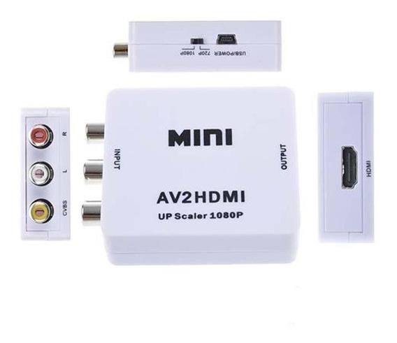 Conversor Adaptador Av Rca Video Composto Para Hdmi 2av-hdmi
