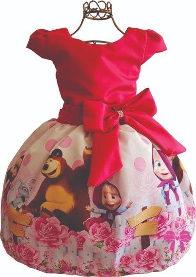 Vestido Marsha E O Urso Festa Luxo
