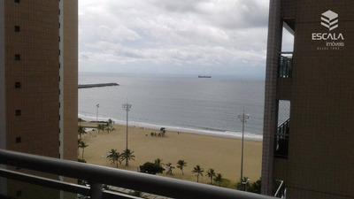 Apartamento Novo Para Locação, 2 Quartos, Mobiliado, Vista Mar, Com Internet / Tv A Cabo - Ap1120