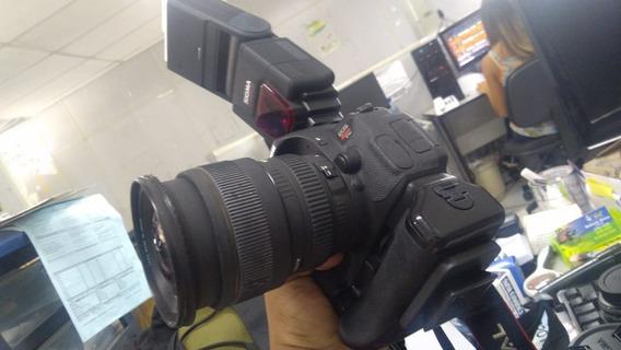 Camera Canon T5i Com Varias Lentes, Mochila Flash Muito Nova