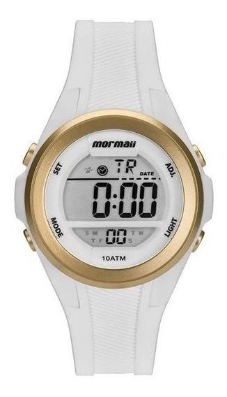 Relógio Mormaii Feminino Branco/dourado Mo3800aa/8b