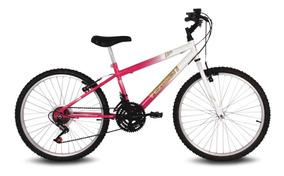 Bicicleta Aro 24 Live Branca E Pink Verden Bikes