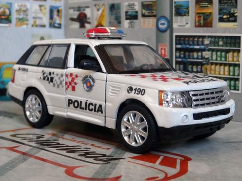 Miniatura Range Rover Sport Polícia Militar Sp - Em Metal