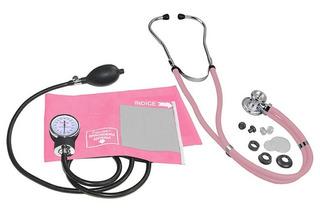 Aparelho Pressão-estetoscópio-kit Acadêmico Enfermagem Rosa