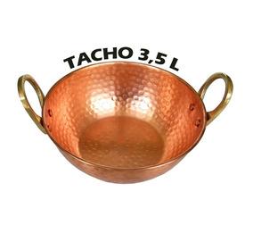 Tacho Panela De Cobre Puro De 3,5 L P/ Cozinhas E Decoração