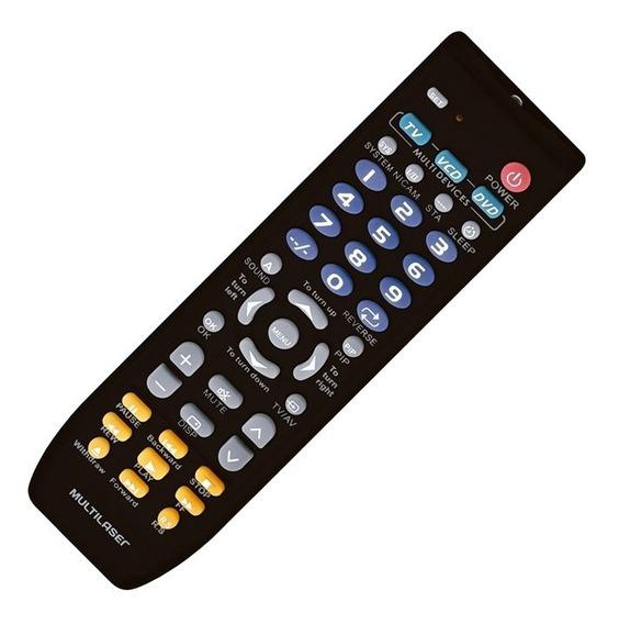 Controle Universal Multilaser Ac088 Para Tv Dvd E Vcd Preto