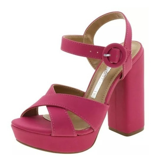 Sandália Salto Alto Via Marte Preta Nude Pink Promoção