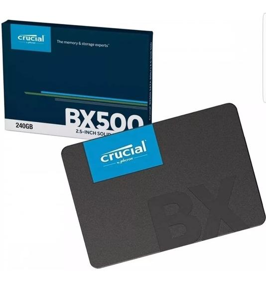 Ssd 240gb Crucial Bx500 Oficial 540 Mb/s Nand Micron Novo