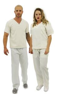 Pijama Cirúrgico Oxford Unissex Básico (23)
