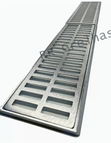 Ralo Linear 15x100cm Grelha Aluminio Coleta Agua Pluvial