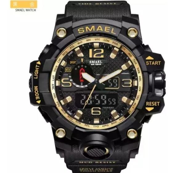 Relógio Militar Smael 1545 Prova De Água