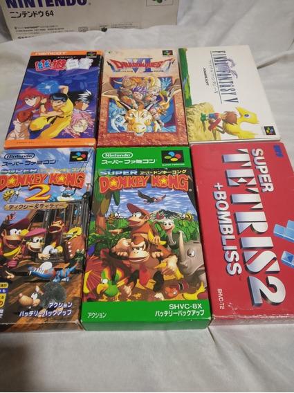 6 Jogos Superfamicom/snes Na Caixa