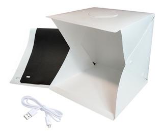 Mini Estudio Fotografico 40x40x40 Cubo Foto Portatil Luz Led