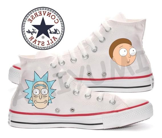 Tênis Rick And Morty All Star Converse Customizado
