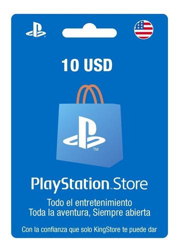 Saldo Playstation Store / Psn Card 10usd (usa) Ps3, Ps4, Ps5