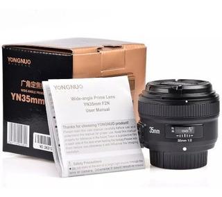 Lente Yongnuo Yn35 35mm F/2 Para Nikon