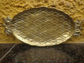 Antiga Pequena Bandeja Em Bronze Abacaxi - C 3873