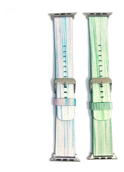 Pulseira Color Listras Apple Watch 38mm 42mm Series 1 2 3