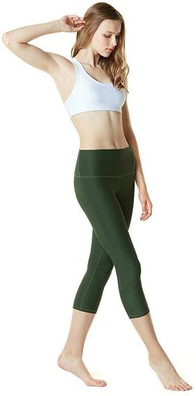 Licras Yoga Pants Corte Alto Corte Capri Marca Tsla