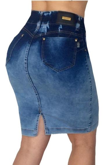 Saia Jeans Com Bojo