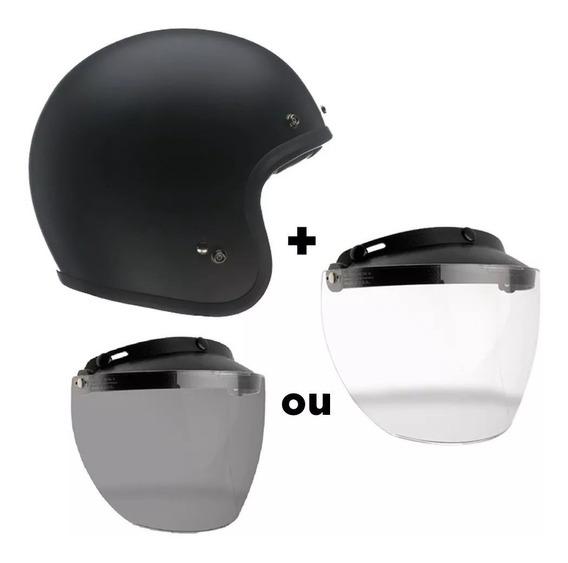 Capacete Bell Custom 500 Solid Com Viseira Flip