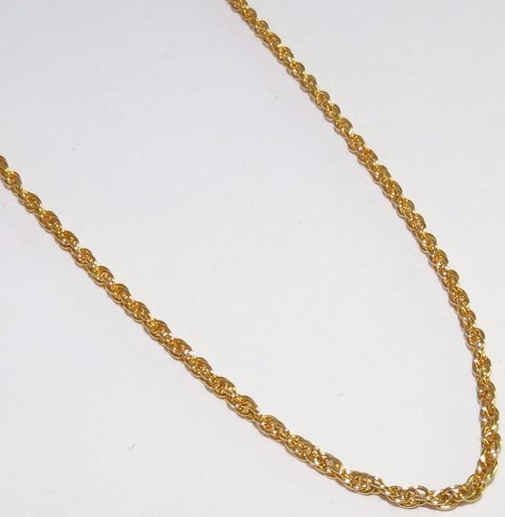Corrente Colar Folheada A Ouro 18k 47cm / 1mm Espessura