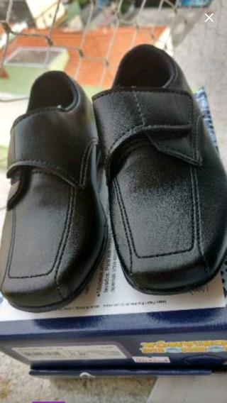 Sapato Social Infantil, Preto, Tam 24