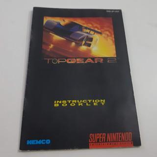 Manual Top Gear 2 Perfeito Raro Super Nintendo Snes | Carta?