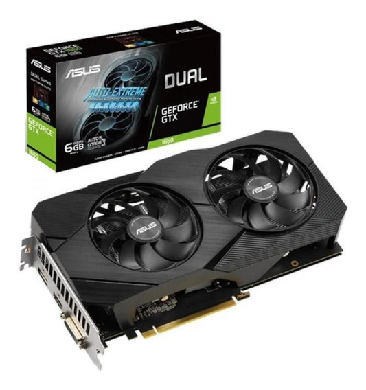 Placa de video Nvidia Asus GeForce GTX 16 Series GTX 1660 DUAL-GTX1660-O6G-EVO OC Edition 6GB