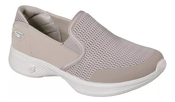 Skechers Zapatillas Panchas Mujer Go Walk 4 Attuned Beige