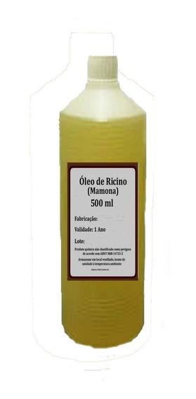 Óleo Rícino Puro C/ Laudo De Análise Cresc.de Cabelo 500ml