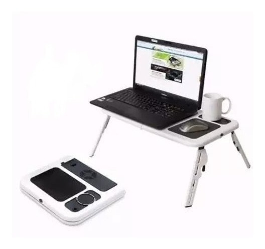 Mesa Dobrável Notebook Cooler Mousepad Cabo Usb Tablet 2