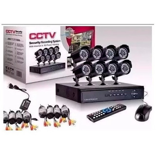 Kit 8 Camaras Seguridad Cctv Dvr Int/ext Infr Celu Full Hd