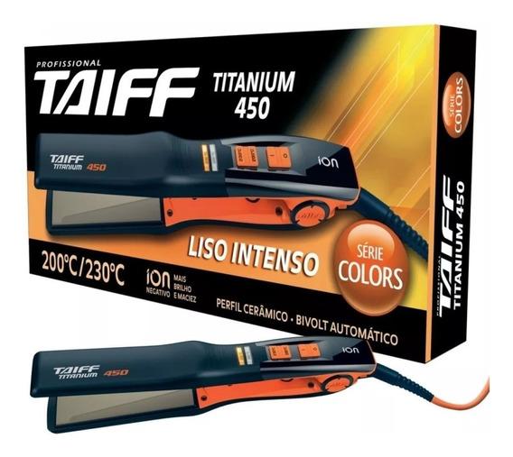 Chapinha Prancha Taiff Titanium 450 Laranja Bivolt