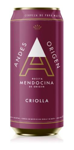 Cerveza Andes Origen Criolla Mostos De Uva X473 Ml Pack X6u