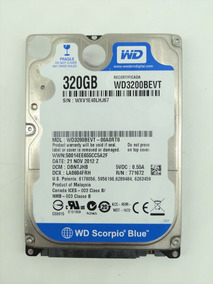 Hd Notebook 320gb Sata Wd Scorpio Blue Wd3200bevt 5400rpm