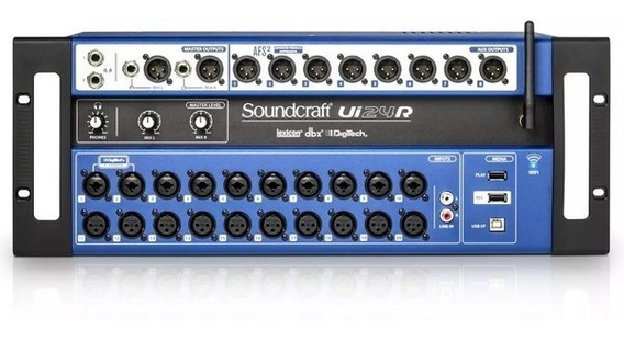 Mesa De Som Soundcraft Ui24r Original 1 Ano De Garantia