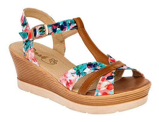 Zapato Descanso Mujer Dash Camel 6cm D10856 Udt