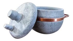 Panela De Pressão De Pedra Sabão 3 Litros De Capacidade