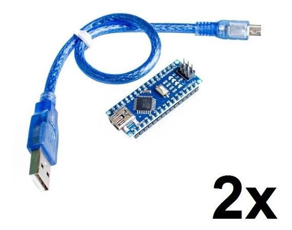 2x Arduino Nano V3.0 Com Cabo Usb!!!!