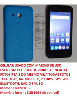 Celular Alcatel 4034e Pixi 4 Tela 4 8 Gb (05) Leia