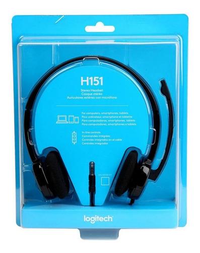 Imagen 1 de 6 de Auriculares Vincha Microfono Headset H151 Pc Ps4 Logitech