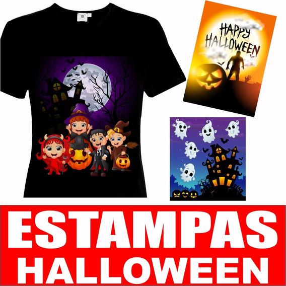 Kit Estampas Halloween Dia Das Bruxas Vetor Corel