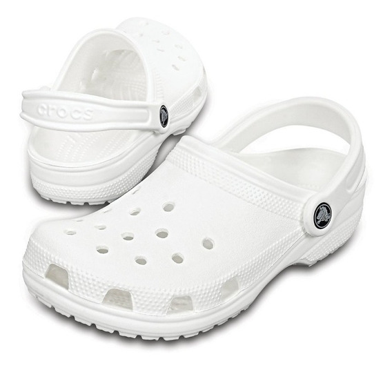 Zapato Crocs Originales Mujer Adulto Classic Blanco