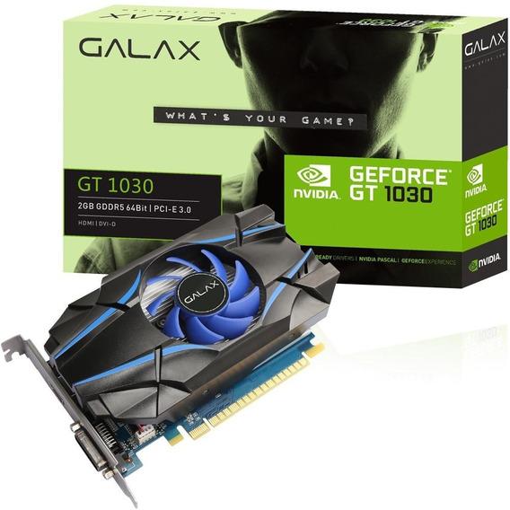 Placa De Vídeo Galax Nvidia Geforce Gt1030 2gb Dvi Hdmi