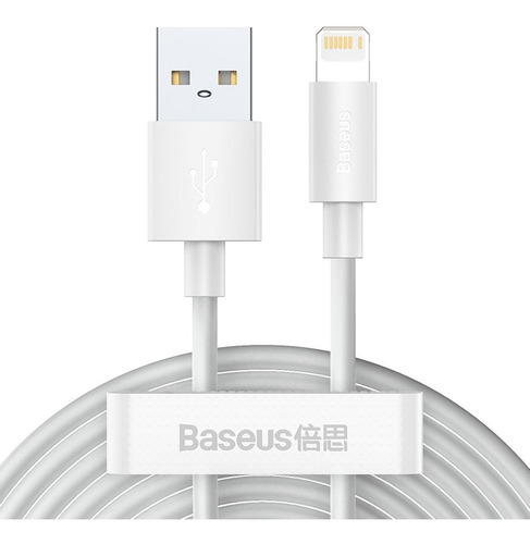 2 Cable iPhone Baseus 12 Pro Max 11 Xr 8 Carga Rapida 1.5m