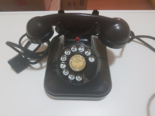 Telefone Antigo Standart Eletric, Preto Baquelite, Déc 60