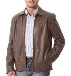 Jaqueta De Couro Legítimo Masculina Comprida X125gg Marrom